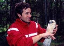 Eric Wood with a bird